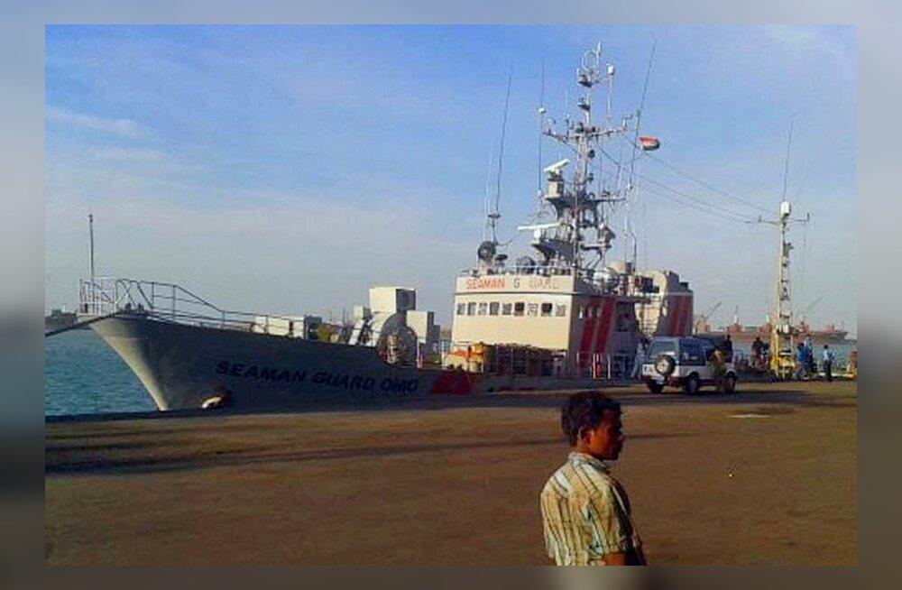 Seaman Guard Ohio, mille pardal Eesti laevakaitsjad vahistati