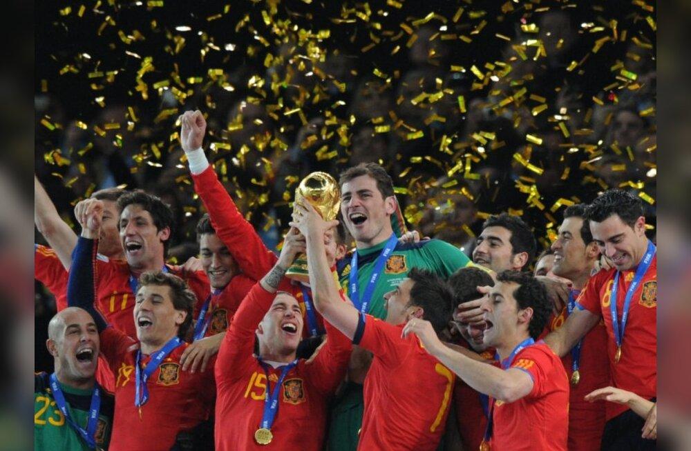 Hispaania jalgpallikoondis, maailmameister, LAV