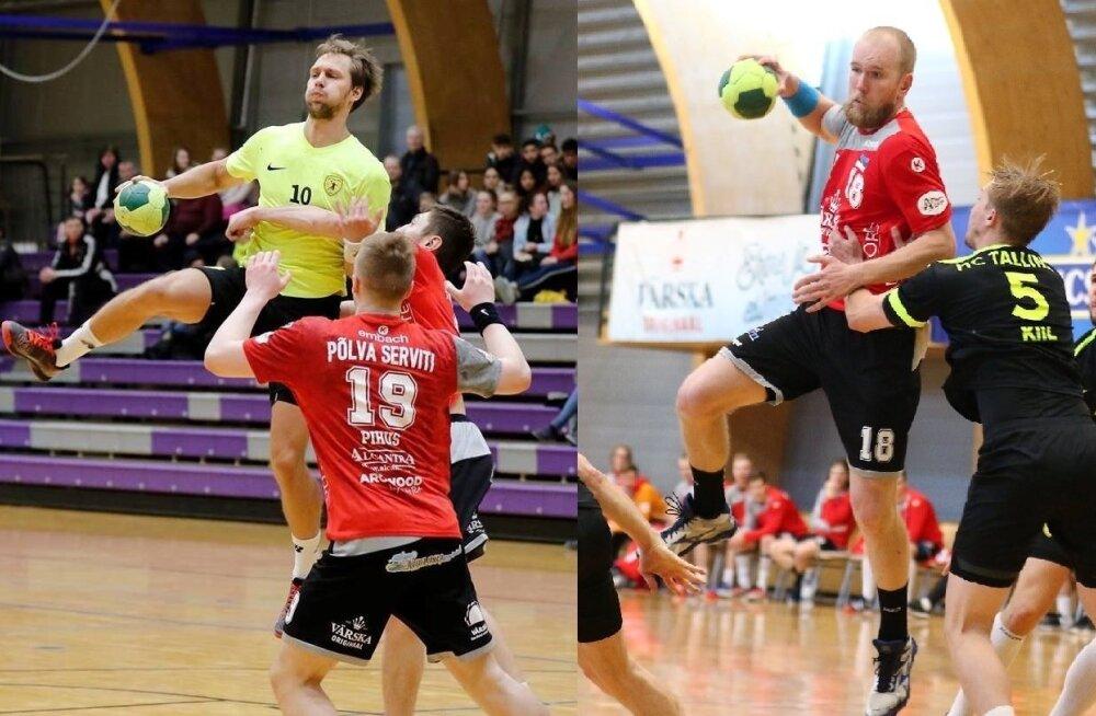 Eesti meistrivõistluste finalistide mängujuhid Uku-Tanel Laast (vasakul) ja Anatoli Tšezlov