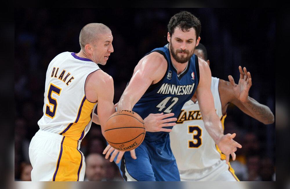 Kevin Love, Minnesota mängus Lakersiga