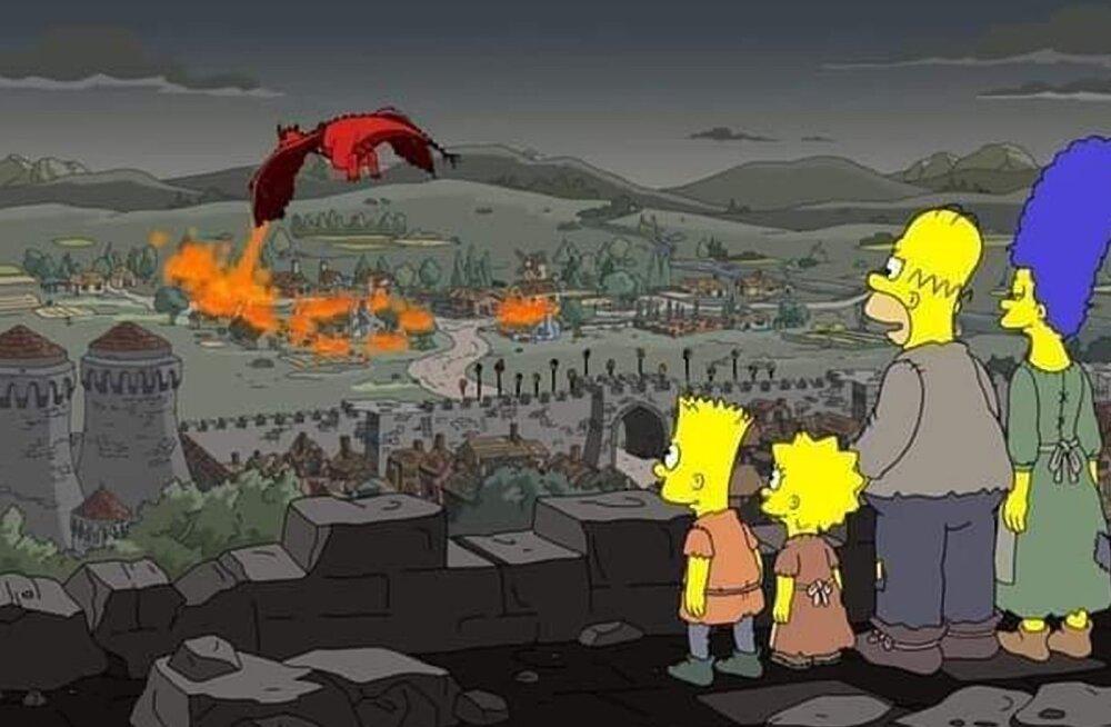 """Tohoh! Kas tõesti ennustasid """"Simpsonid"""" menusarjas """"Troonide mäng"""" juhtunut ette?"""