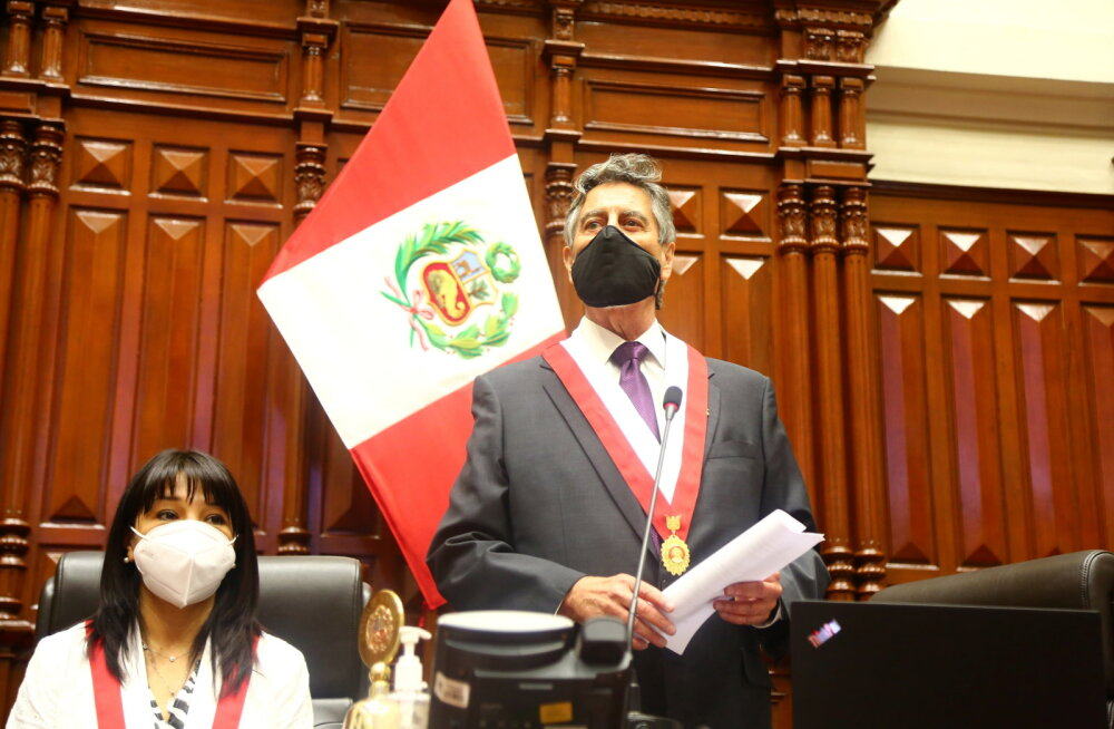 Peruus valiti ametisse juba kolmas president vähem kui nädala jooksul