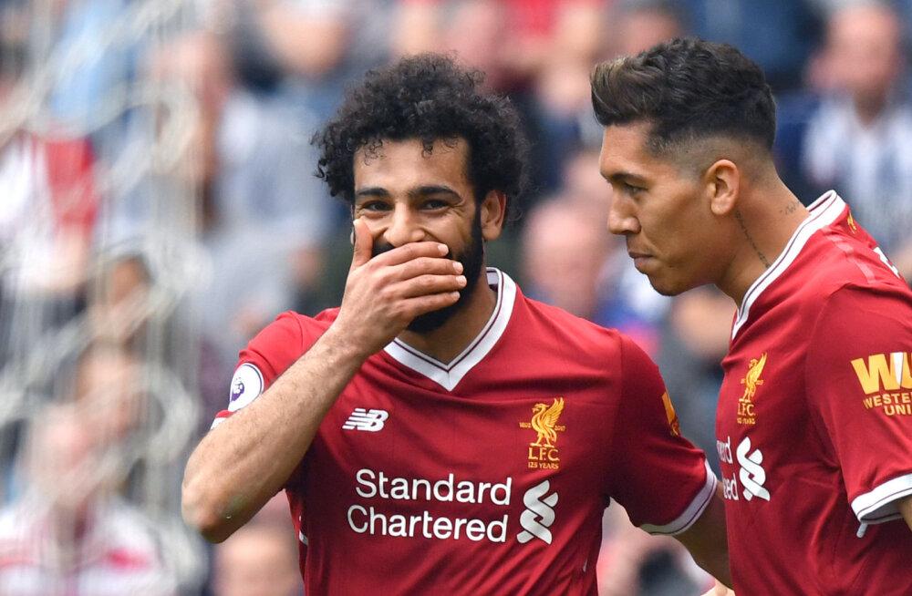 Järjekordse värava löönud Mohamed Salah jõudis Ronaldo ja Suareze tippmargini