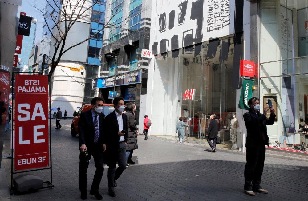 Lõuna-Korea teatas viimase nelja nädala väikseimast uute nakatumisjuhtumite arvust