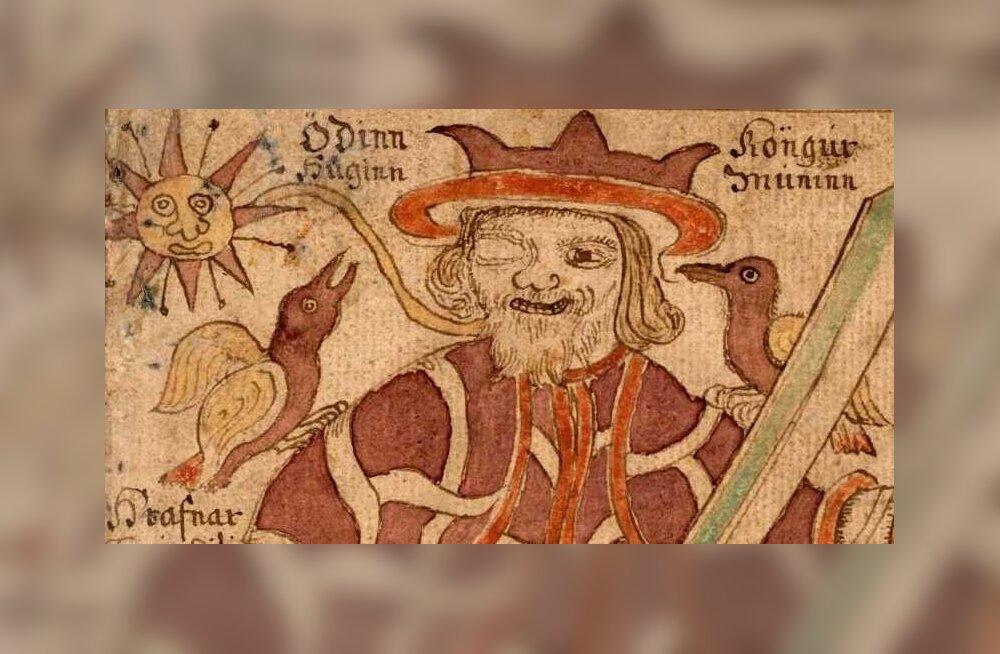 Isegi Kõigeisa Odin, ühesilmaline šamaan, kes tõi ennast iseendale ohvriks, pidi naiseks hakkama, et nõiamoorina loitsides ringi käia, ja seda tõenäoliselt just Saaremaal. Illustreeritud käsikirja detail (Island, XVIII sajand).