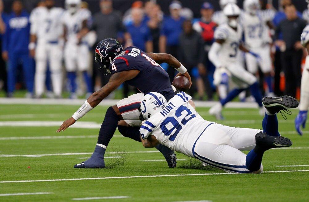 Teel Super Bowli poole: Hunt ja Coltsi kaitse murdsid Texansi