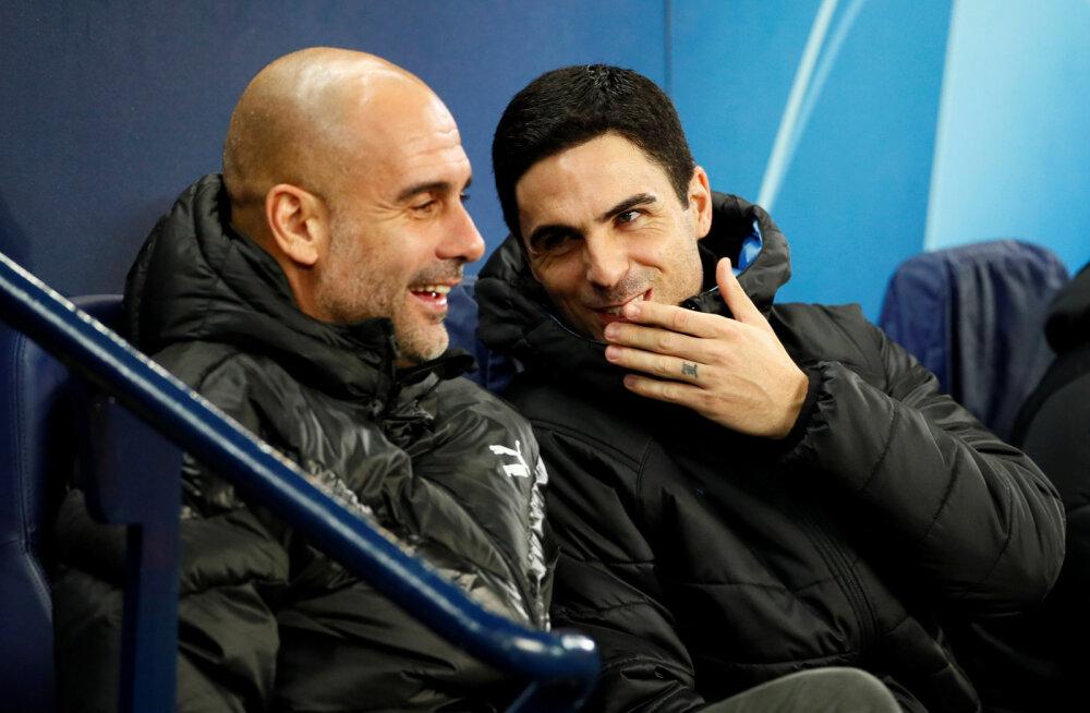 Pep Guardiola ja Mikel Arteta