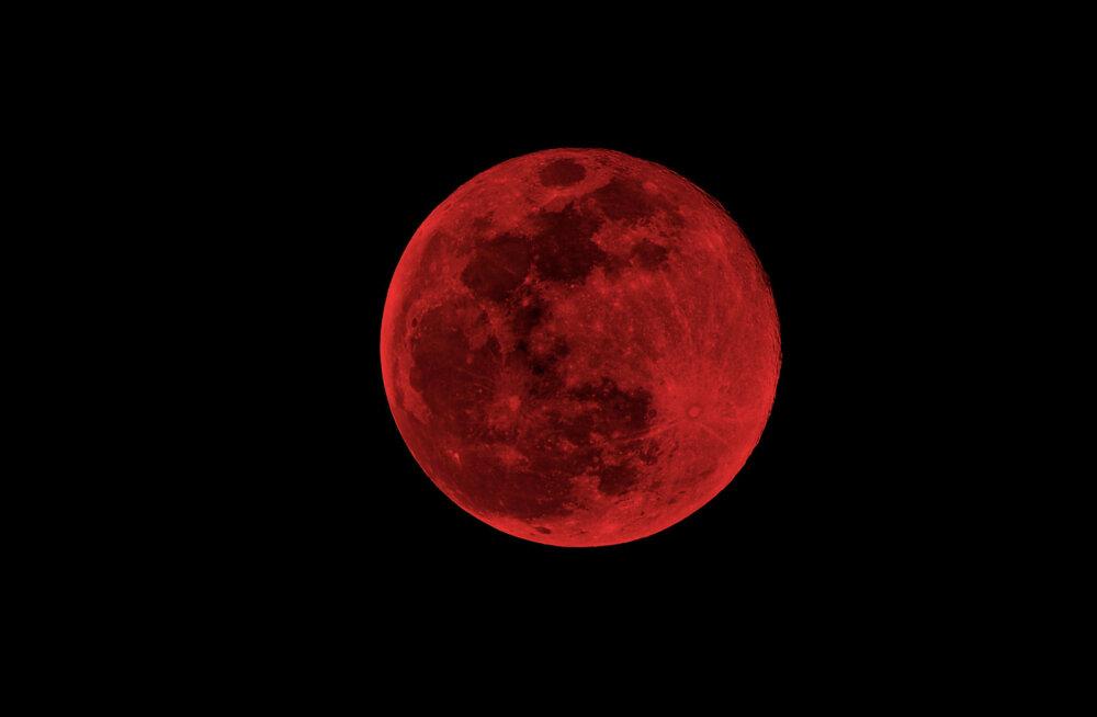 Vaata, kust näeb täna taevas kõrguvat verekuud ja kuuvarjutust