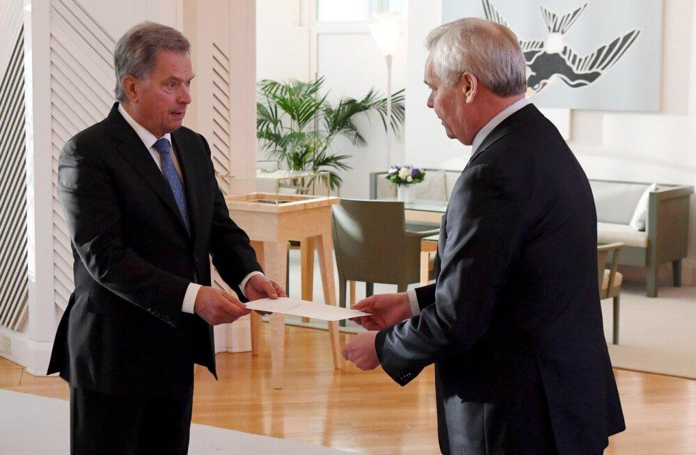 Soome peaminister Rinne esitas presidendile tagasiastumispalve