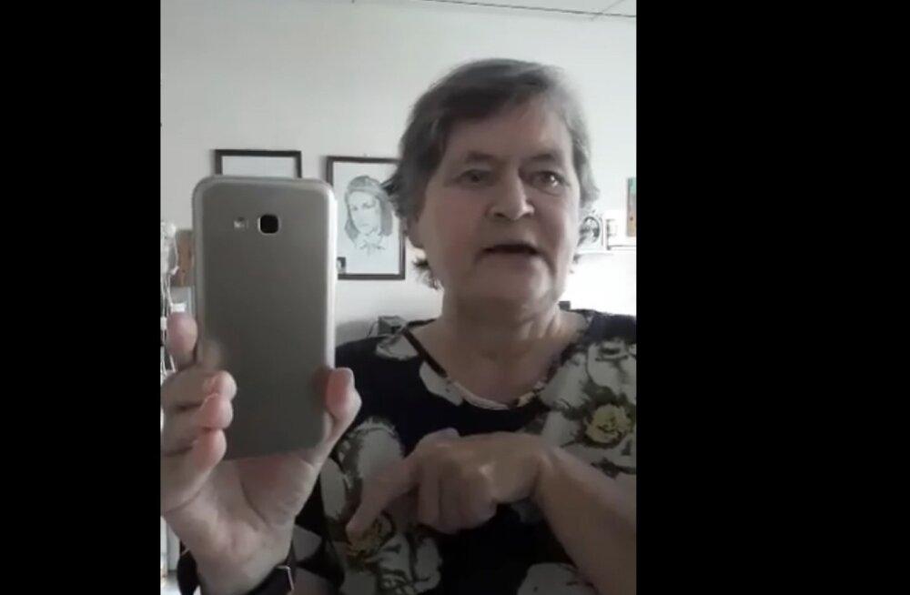 VIDEO | Vats vappuma! Telest saadud naerunipp on Viljandi vanaprouast teinud mõne päevaga sotsiaalmeediastaari