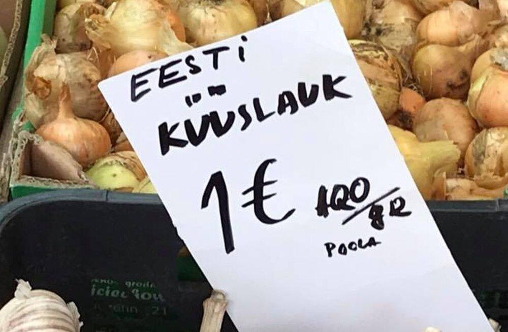 PÄEVAPILT   Balti jaama turul müüdi Poola päritolu Eesti küüslauku