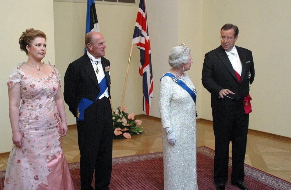 Evelin Ilves, prints Edward, kuninganna Elizabeth, president Ilves