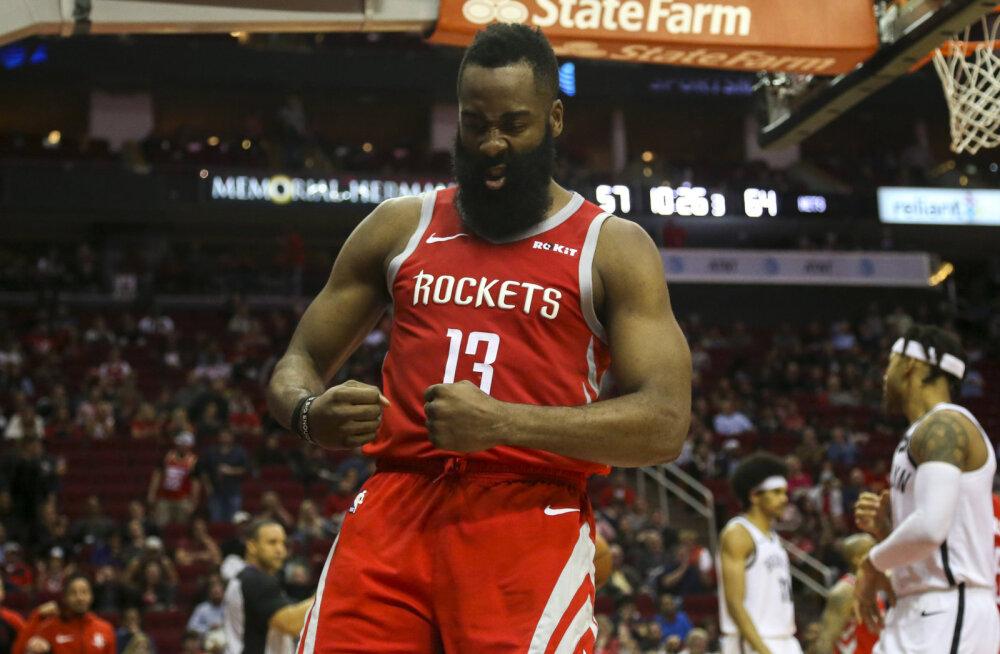 VIDEO | James Harden viskas taas jaburalt palju punkte, Warriors ja Pelicans püstitasid NBA rekordi