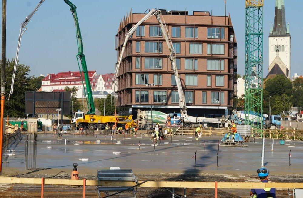 Porto Franco ehitusel valati ühe ööpäevaga Eesti rekordkogus betooni