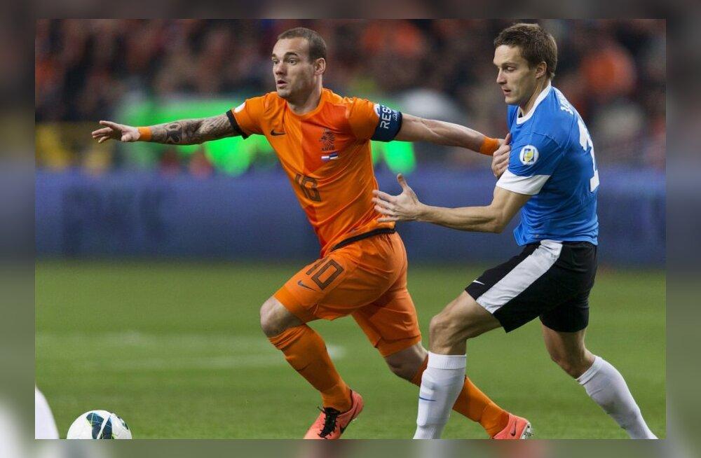 Wesley Sneijder pääses viimasel hetkel Hollandi koondisse ja tuleb siiski Eestisse