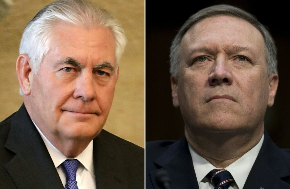 Trump vahetab välja USA välisministri Rex Tillersoni, teda asendab CIA senine direktor Pompeo