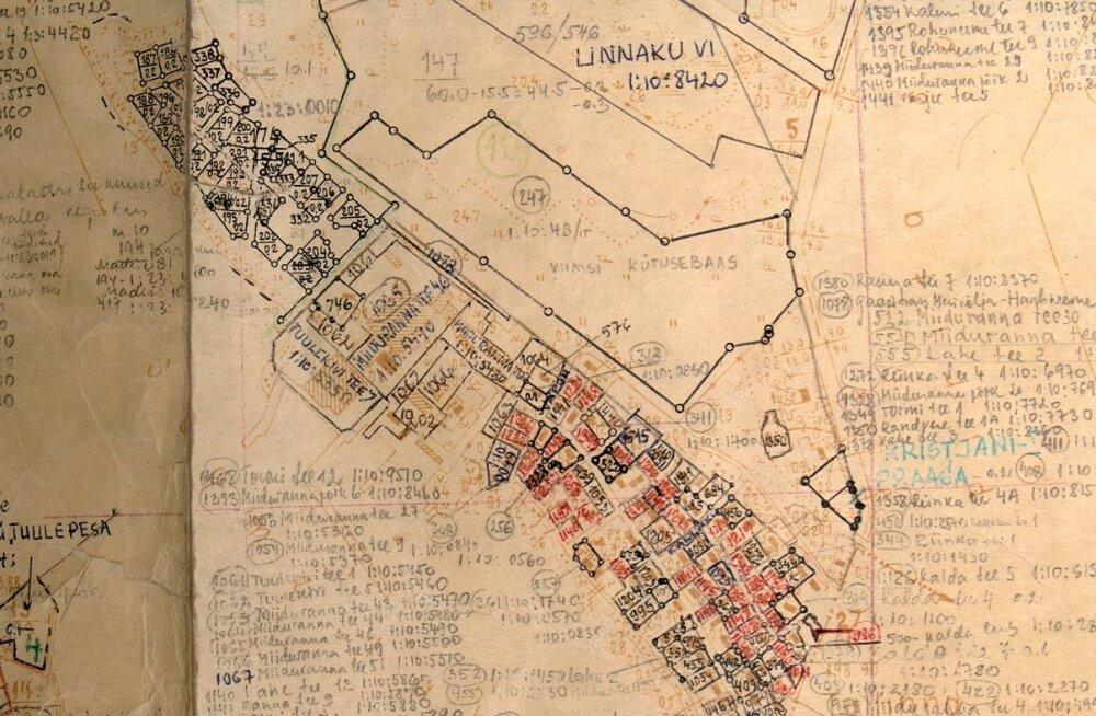 Maa-ameti katastriüksuste plaanid, kaardid