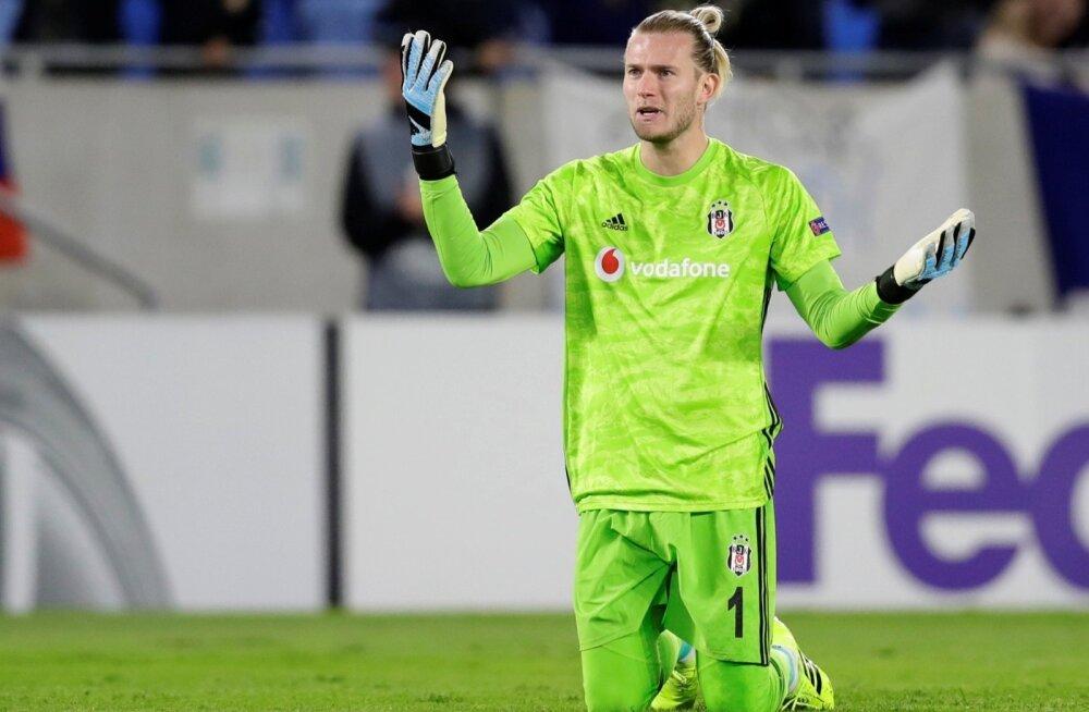 Loris Karius kannab praegu Istanbuli Besiktase särki.