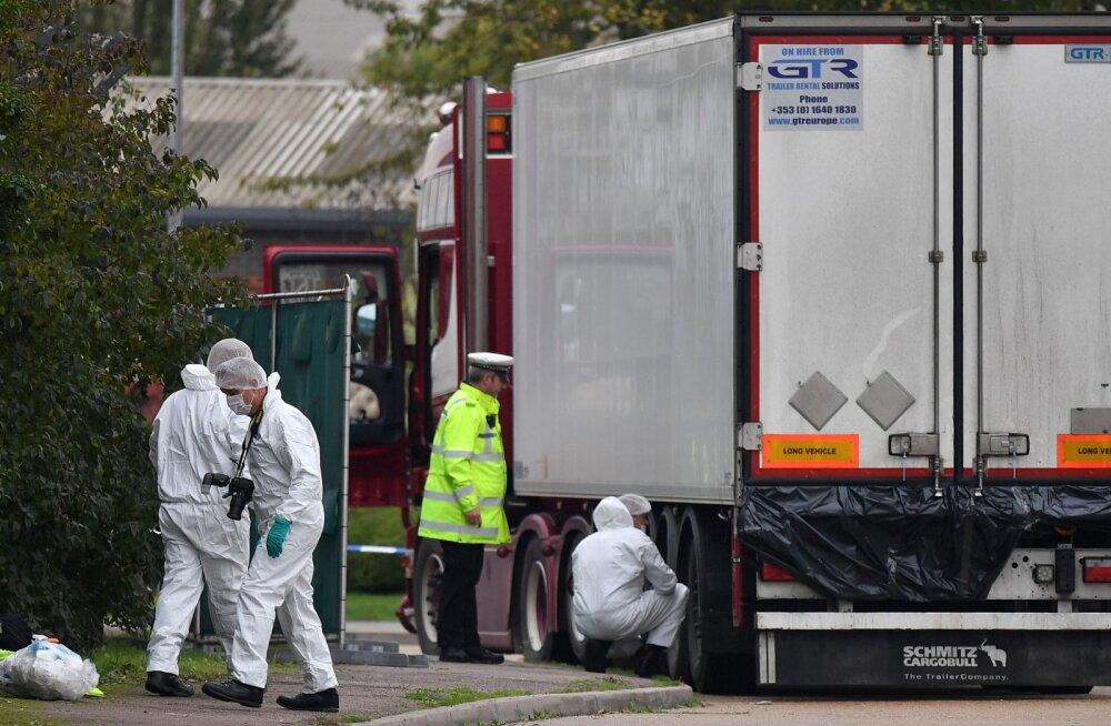 Inglismaal veokihaagisest leitud 39 surnukeha kuuluvad Hiina kodanikele