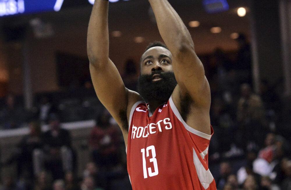 VIDEO | Hardeni 57 punkti ei päästnud Rocketsit kaotusest, Markkanen vedas Bullsi võiduni