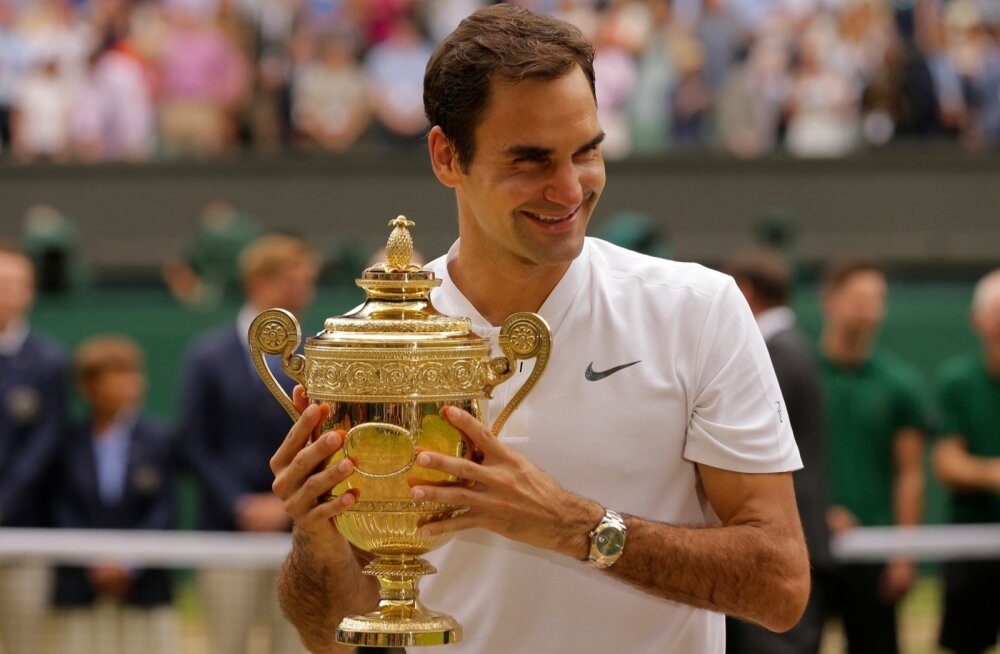 Roger Federeril on põhjust rõõmustamiseks – kaheksas Wimbledoni tiitel on tõelisus.