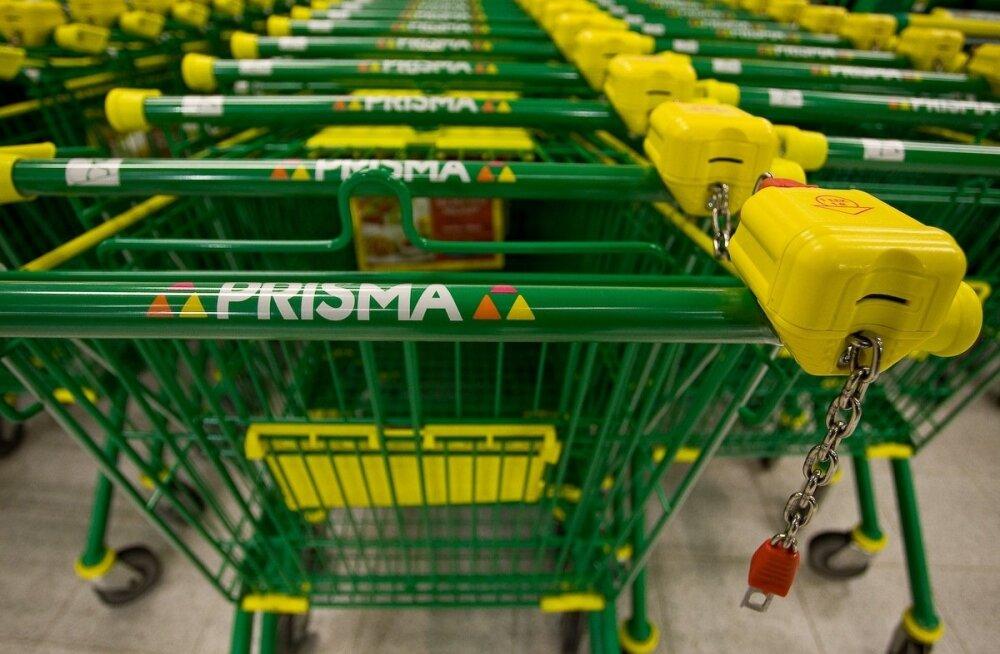 Prisma suurte ostukärude kasutamiseks tuleb edaspidi välja käia pandiraha