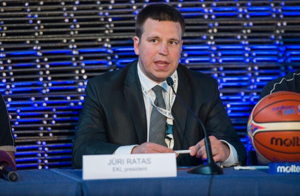 Korvpalliliidu president Jüri Ratas pürib EOK presidendiks.