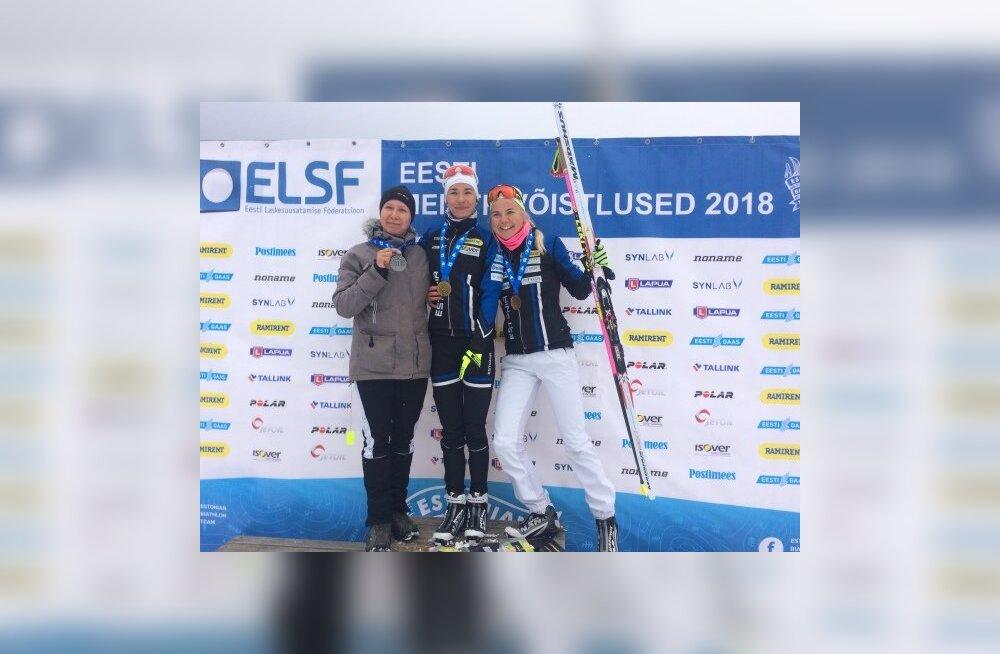Eveli Saue pälvis laskesuusatamise Eesti meistrivõistlustel hõbeda
