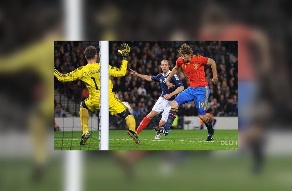 Šotimaa - Hispaania jalgpalli EM-valikmäng