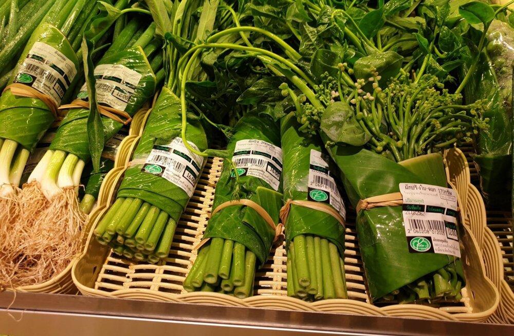 Innovaatiline viis asendada plastpakend - köögiviljad pakendati ootamatusse pakendisse