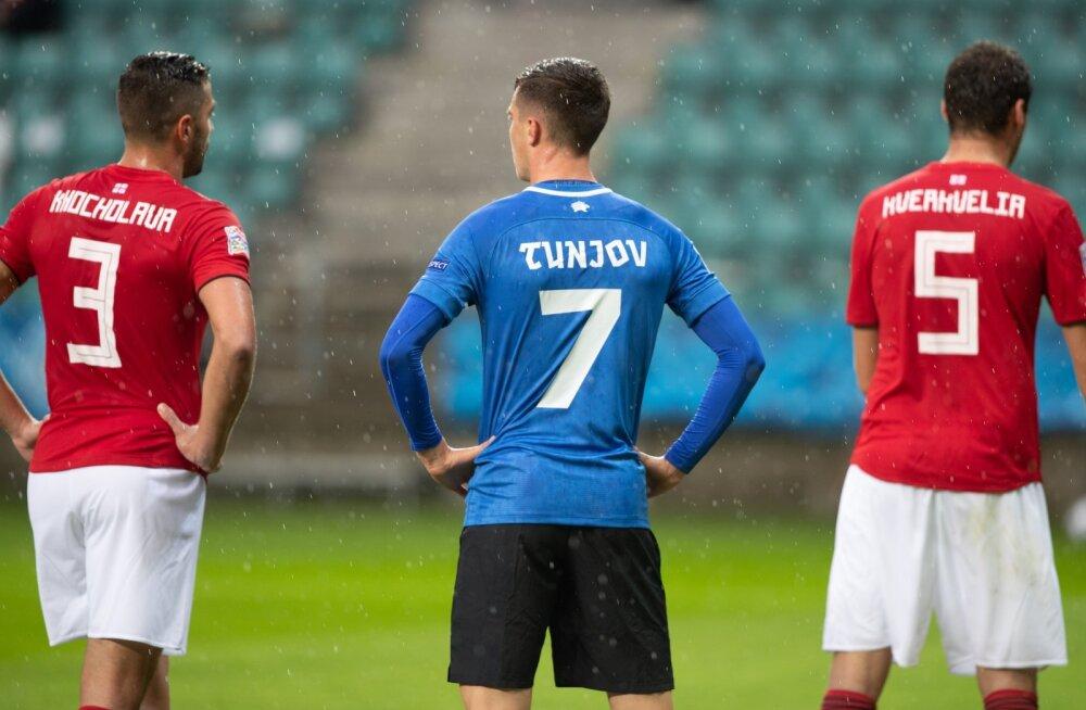 Eesti - Gruusia jalgpallikoondiste kohtumine UEFA rahvuste liiga 05.09.2020