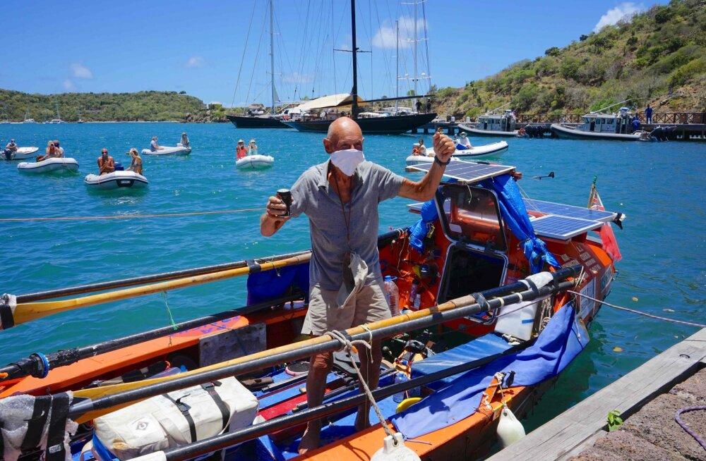 Uus rekord! 72-aastane vanahärra sõudis üksinda üle Atlandi ookeani
