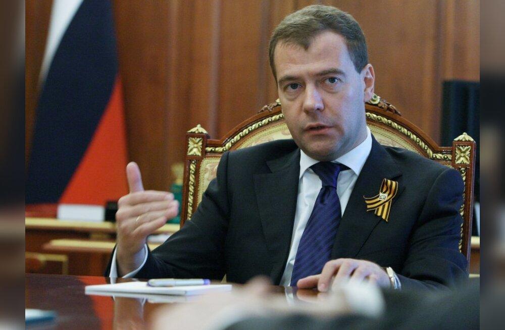 May 6, 2010. Russian President Dmitry Medvedev holds a meeting in Kremlin.