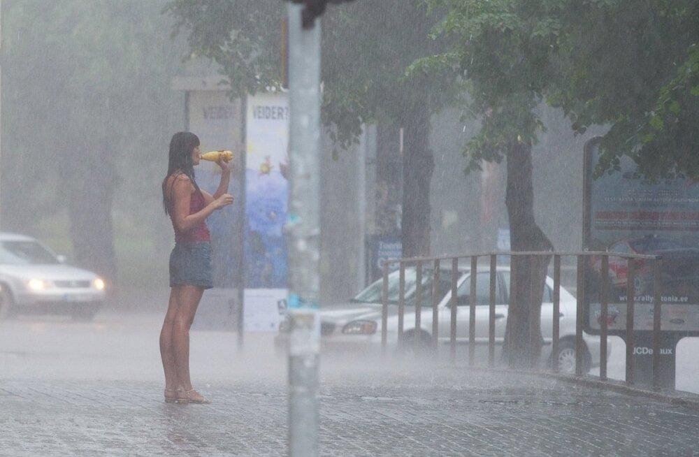 Augustis on juba kuu norm täis sadanud