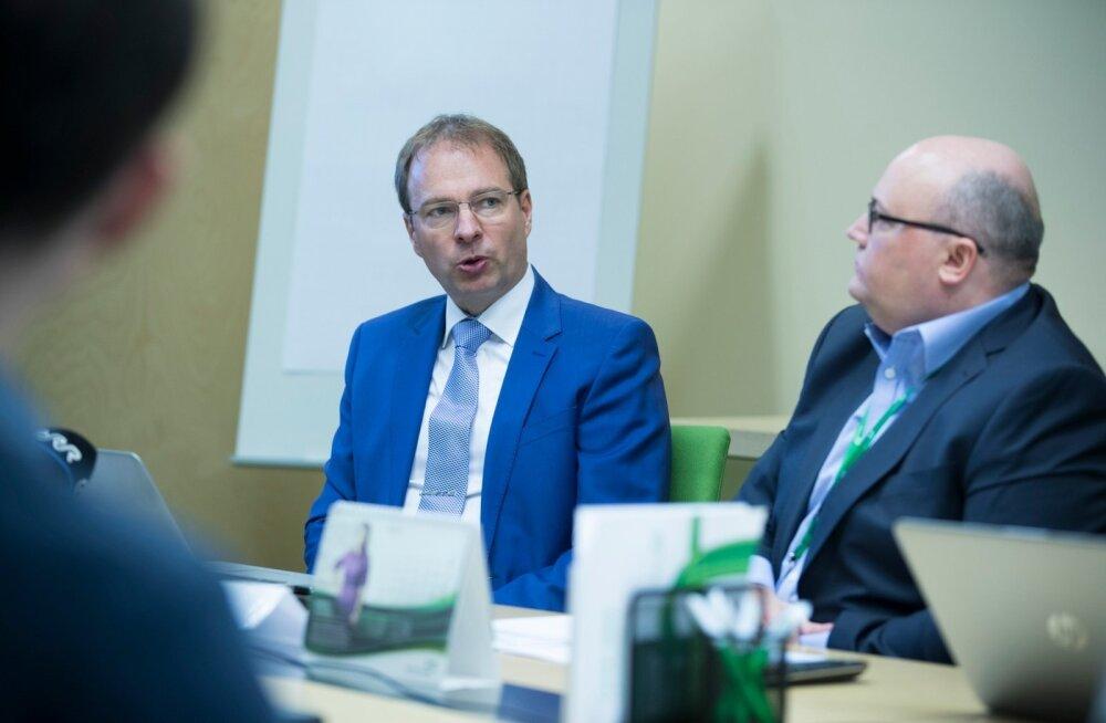 Eesti Energia juht Hando Sutter ja finantsjuht Andri Avila