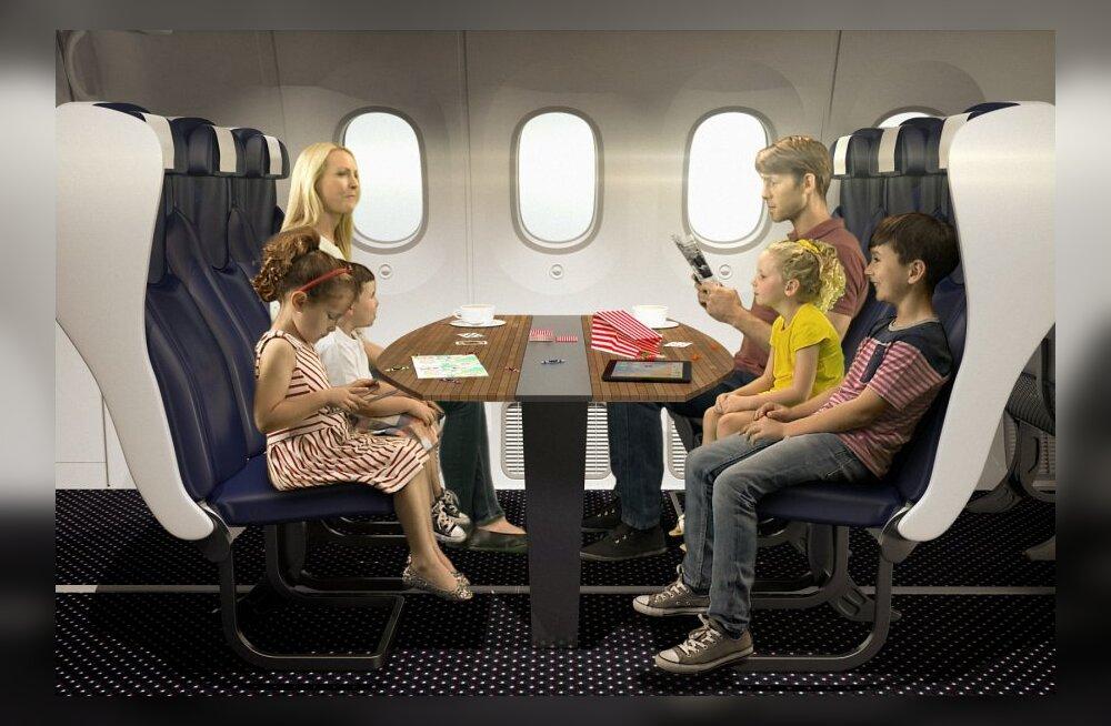 Briti lennufirma ei kitsenda istekohti - pered saavad avarama nurga