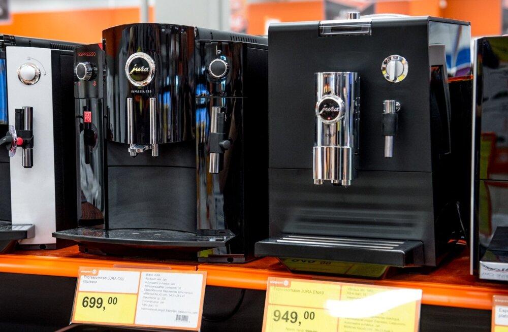 Kohvimasinad tehnikapoes