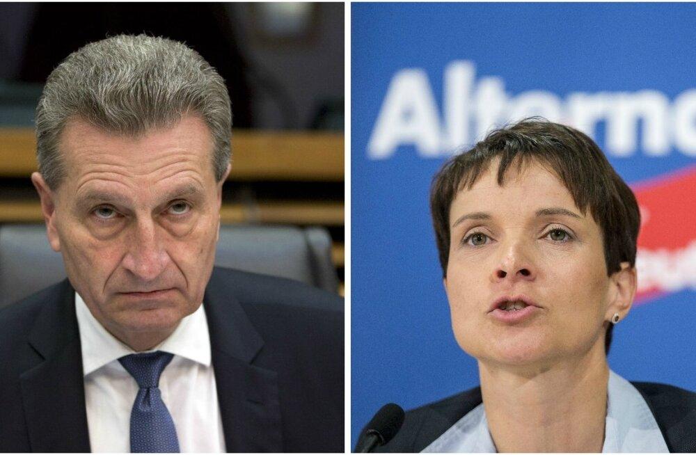 Euroopa Komisjoni liige Oettinger Saksa erakonna AfD juhist: kui ta oleks minu naine, laseksin ma ennast maha