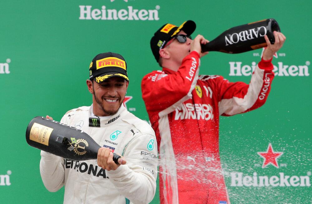 Vana pidu meenutanud Räikkönen viskas Hamiltoni üle nalja: ärge muretsege, kogu lootus pole veel kadunud!