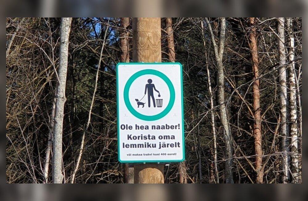 ФОТО | Управа Хааберсти владельцам собак: поводок и пакетик с собой!
