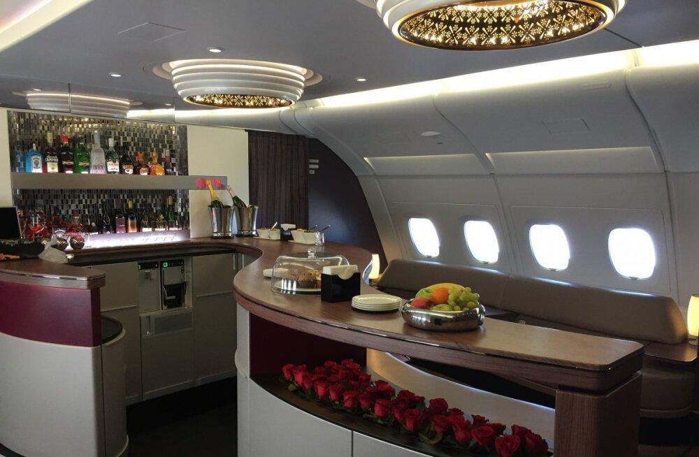 FOTOD: millega teenis Qatar Airways maailma parima lennufirma tiitli