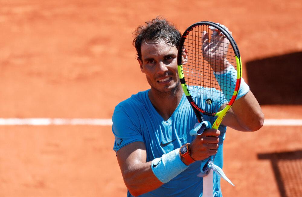 Rafael Nadal jõudis vaatamata kaotusseisu jäämisele French Openil poolfinaali