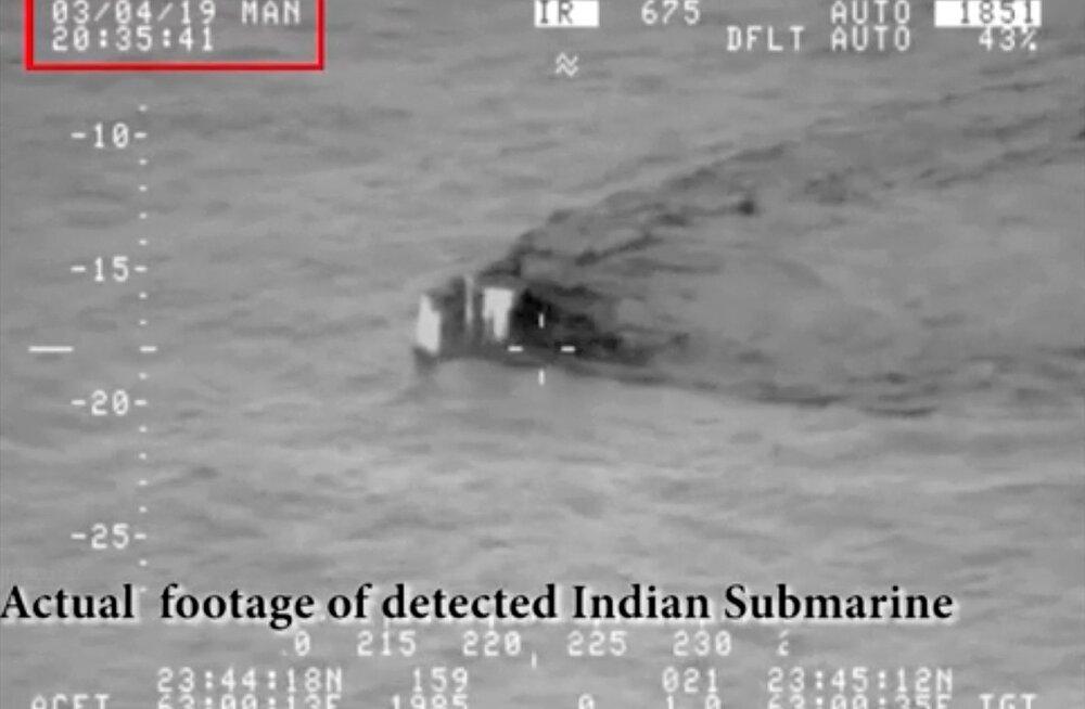 Pakistan hoiatas oma territoriaalvetele lähenenud India allveelaeva