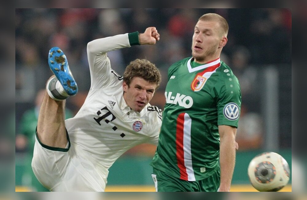 Bayerni mängus õlga vigastanud Klavan ilmselt täna ei mängi