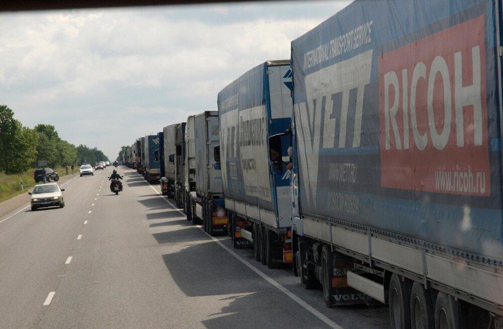 Autode järjekord Narva piiril 2009. a