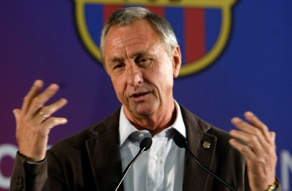 Hollandi jalgpalliime Johan Cruyff Barcelonas.