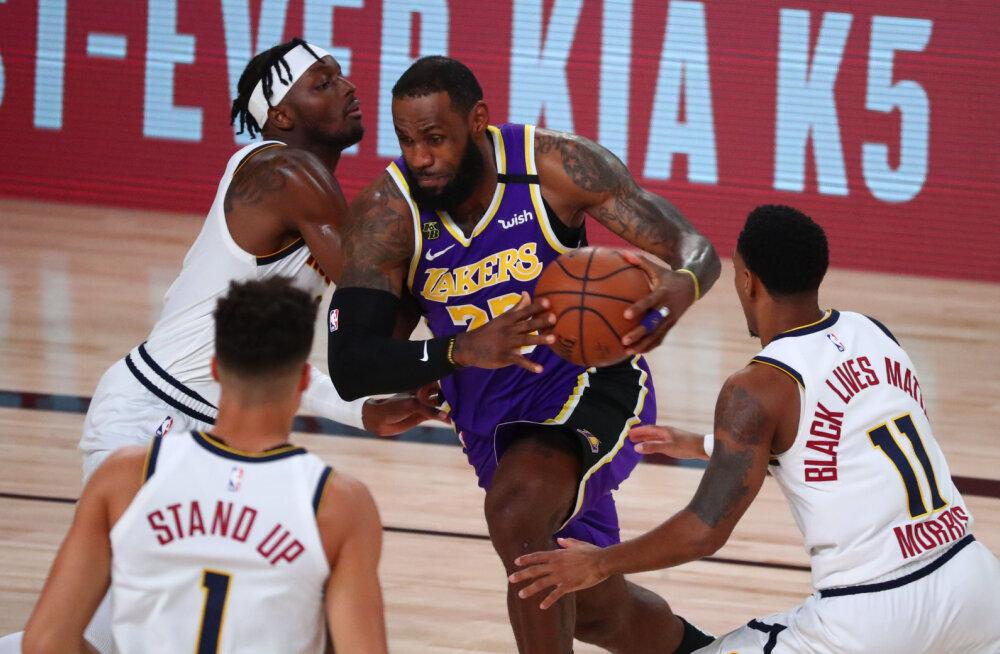 VIDEO   LeBron Jamesi kolmikduubel vedas Lakersi üle kümne aasta NBA finaali