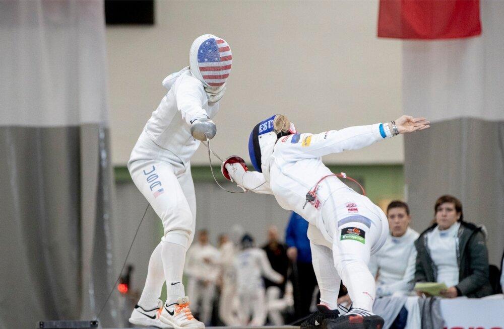 USA naiskond tõkestas Tallinna MK-etapil Eesti naiskonna teekonna veerandfinaalis.