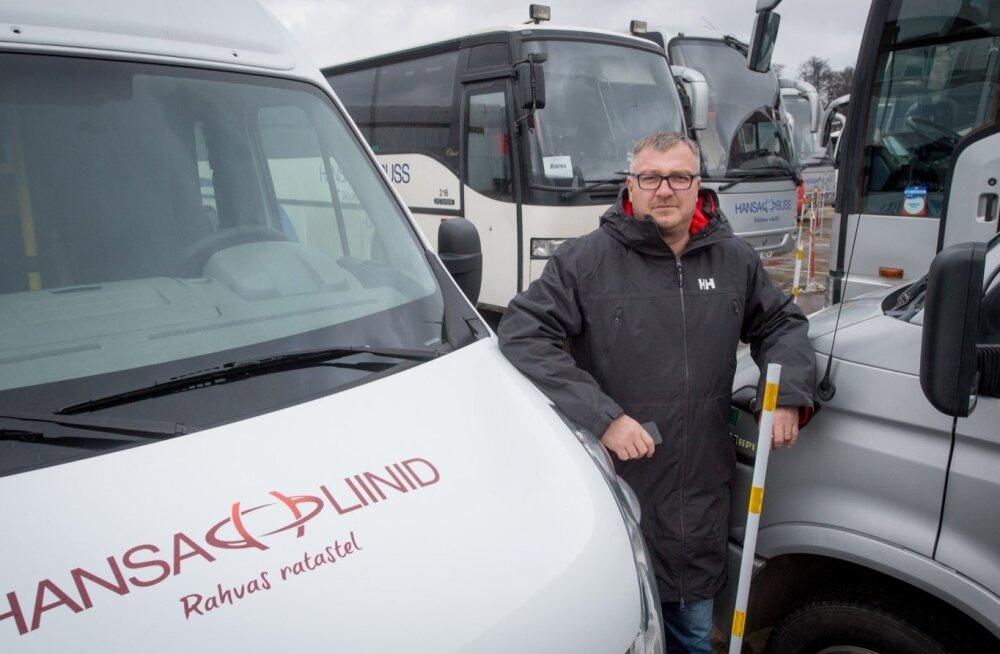 Hansa Bussiliinide juht Andres Puskar võib rahul olla, sest Võru maavalitsus maksab praegu tema ettevõttele ülejäänud maakonnaliinidega võrreldes kõige kõrgemat kilomeetrihinda.
