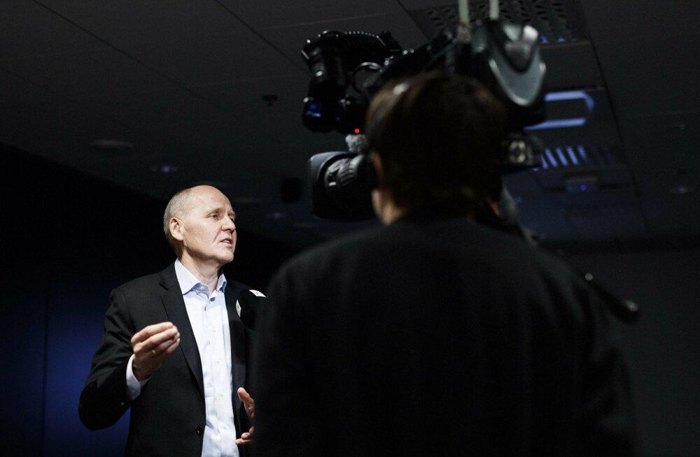 Telenor Grupi juht Sigve Brekke 9. aprillil Helsingis toimunud pressikonverentsil